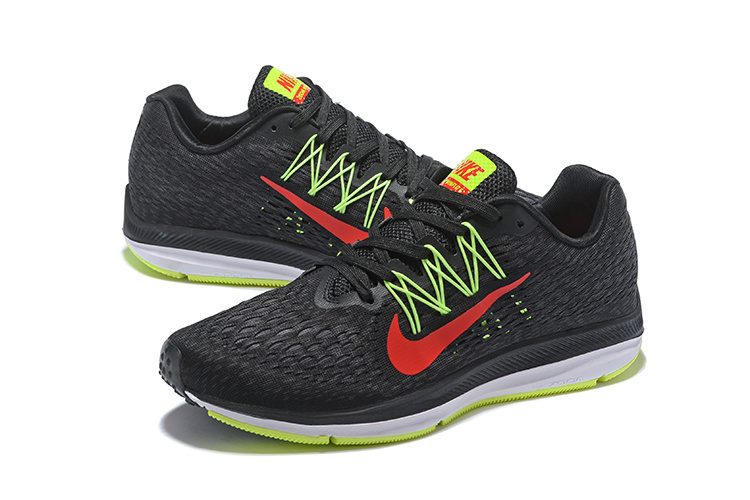 the best attitude ed51b a50d6 Nike Air Zoom Winflo 5 Black Bright Crimson Volt Anthracite AA7406 004  Men s Casual Shoes Sneakers