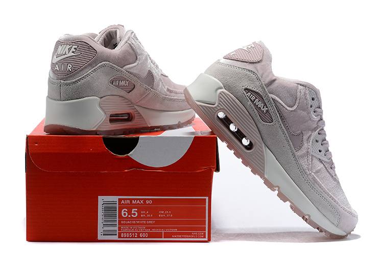 nouveau produit cefba b781e Nike Air Max 90 LX Particle Rose Vast Grey Summit White 898512 600 Women's  Running Shoes Sneakers 898512-600