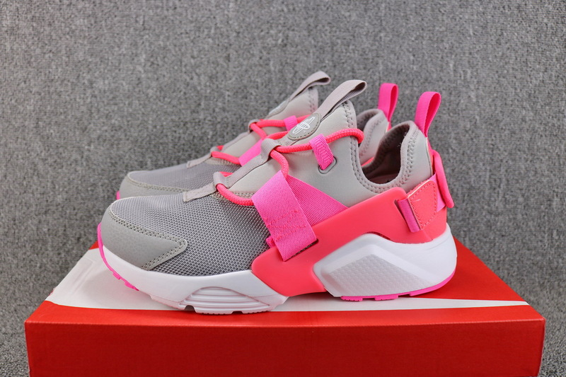 3f2077a55152 Nike Air Huarache City Low Atmosphere Grey Hot Punch White AH6804 007  Women s ...