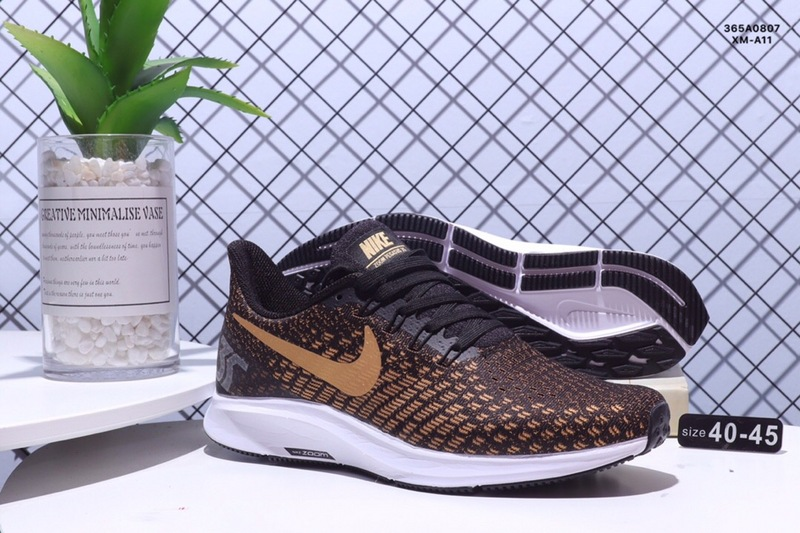 ea459b00923 Nike Air zoom Pegasus 35 Shield Brown Gold White Men s Casual Shoes ...