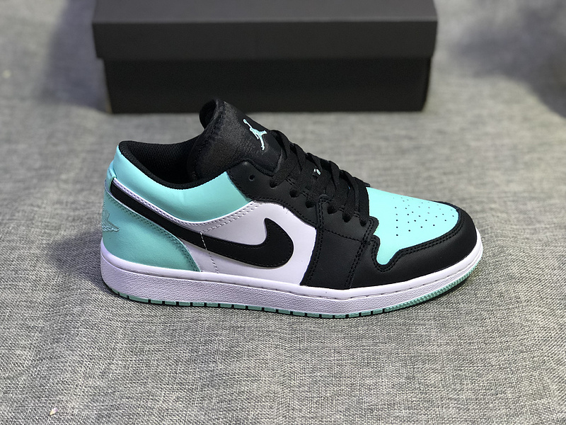 more photos 42728 256ad Air Jordan 1 Low Emerald Toe Rise Black 553558 117 Womens Mens Athletic  Basketball Shoes 553558-117