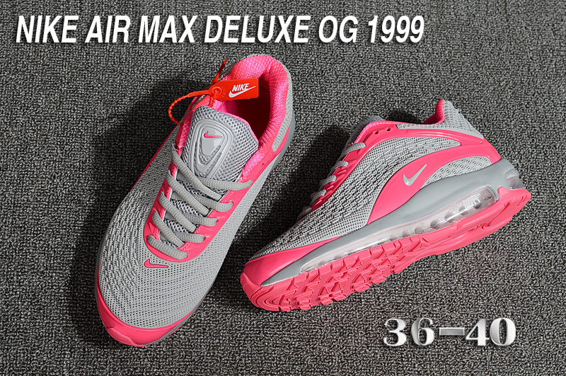 Nike Air Max Deluxe OG 1999 Kpu Wolf Grey Pink Women's Running Shoes NIKE ST003521