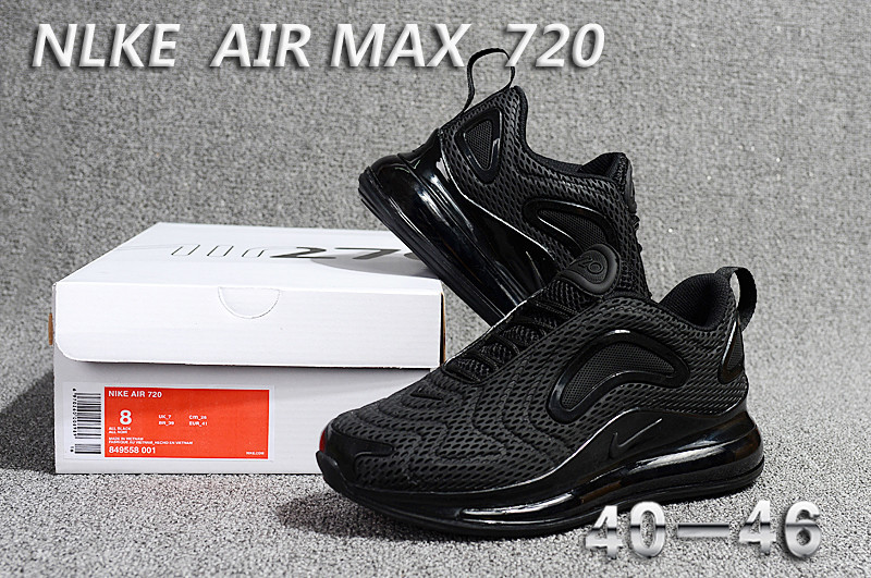 d827bebf Nike Air Max 720 KPU Triple Black 849558 001 Men's Casual Shoes 849558-001d  | WithTheSale.com