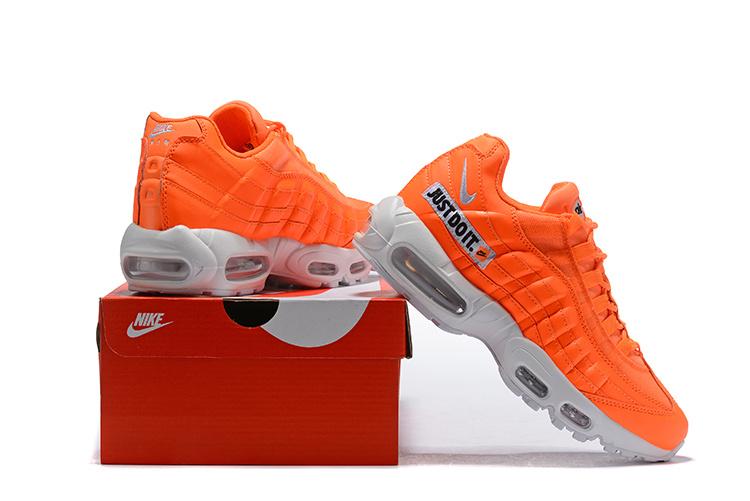 buy popular 3bcc6 04575 Nike Just Do It Air Max 95 Total Orange White Black AV6246 800 Men's Casual  Shoes AV6246-800