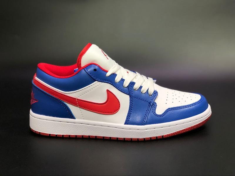 new concept 90fed 86b29 Air Jordan 1 East Side Retro Low White Varsity Royal Womens Mens Athletic Basketball  Shoes