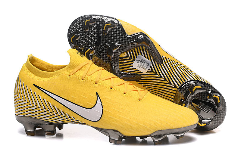 8dbc6c570017a Nike Mercurial Superfly VI Flyknit 360 Elite FG Yellow White Black Men s  Soccer Cleat Shoes