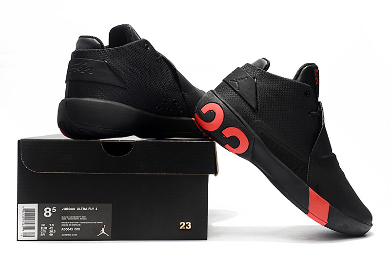 lowest price 1d980 c1d3e Air Jordan Ultra Fly 3 Black Red Men s Basketball Shoes