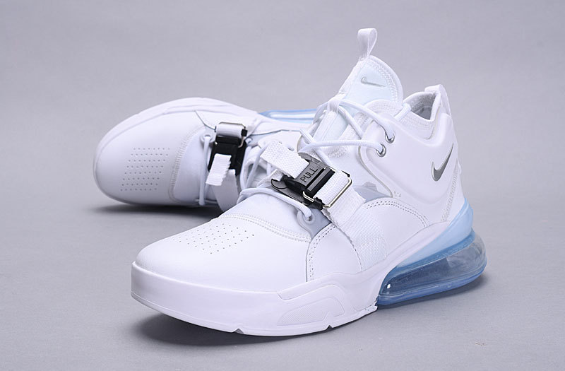 size 40 384bd dda2f Nike Air Force 270 White Metallic Silver AH6772 100 Men's Casual Shoes  Sneakers AH6772-100