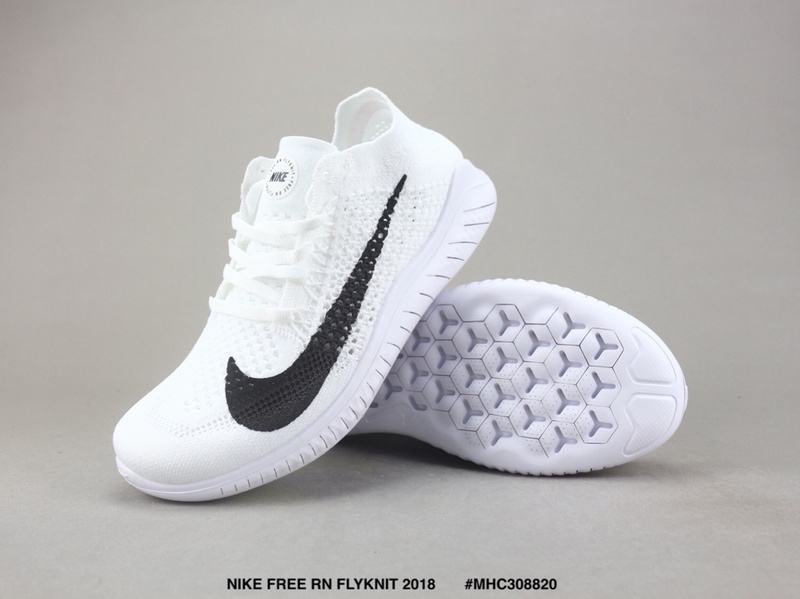 super popular 41fee bd3ae New Arrivel Nike Free RN Flyknit 2018 White Black Women's Men's Running  Shoes NIKE-ST003685