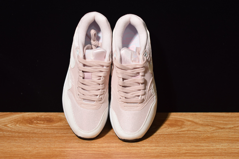 afb1b870e54f0 Nike WMNS AIR MAX 1 Barely Rose 319986 607 Women's Casual Shoes Sneakers