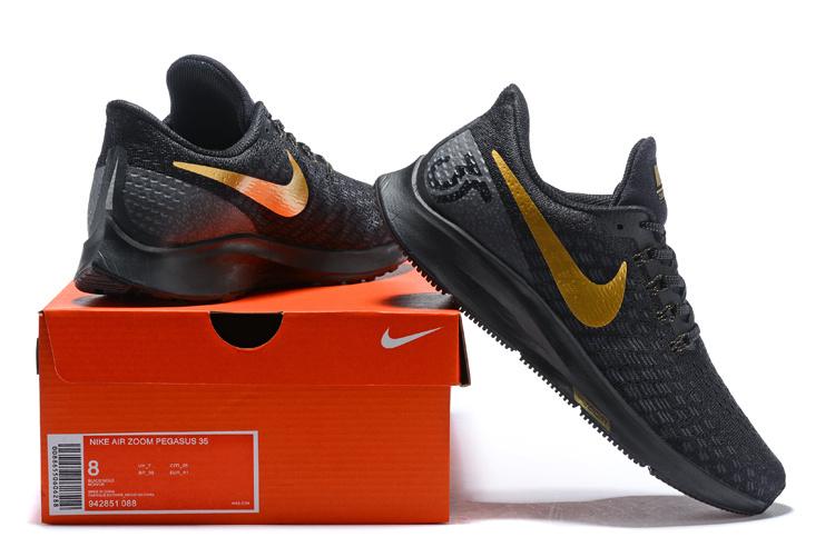 51965c9fc196 Men s Casual Shoes Nike Air Zoom Pegasus 35 Black Gold 942851 088 ...