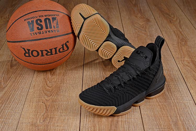 180ba46f4beef Nike LeBron 16 Black Gum Men s Basketball Shoes NIKE-ST003793 ...