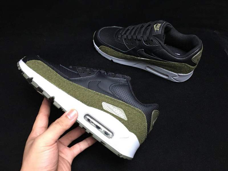 Nike Air Max 90 Ultra 2. 0 LTR Black Olive Green White AA9974 002 Men's Casual Shoes Sneakers AA9974 002