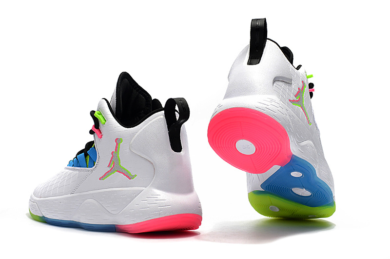 5f61c2cfa581 Jordan Super. Fly MVP PF White Green Pink Blue Black Men s Basketball Shoes