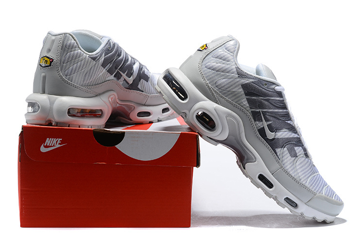 6d47ac84afd Nike Air Max Plus TN Striped Pure Platinum Dark Grey White Wolf Grey AT0040  003 Men s Running Shoes AT0040-003