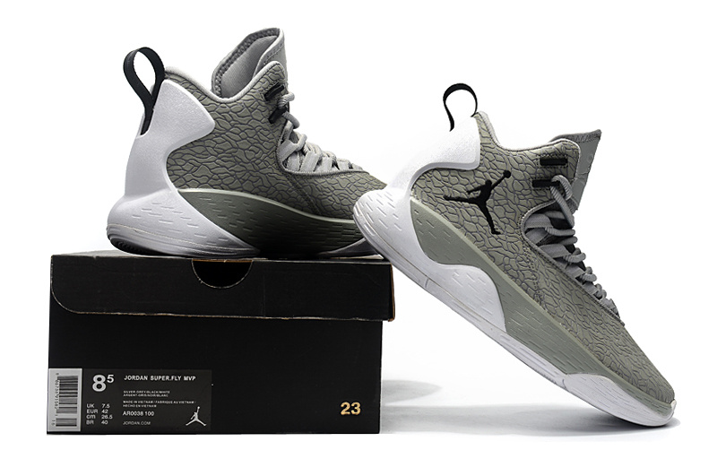 low priced d176a 2a36a Jordan Super. Fly MVP L Cement Grey White University Red Black AT3005 002 Men s  Basketball