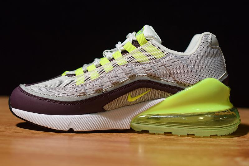watch 5d9d2 1c043 Original Nike Air Max 95/270 Futura White Green Black Purple 749766 102  Men's Casual Shoes 749766-102