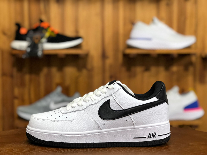 sale retailer 83f61 ac548 Women's Men's Nike Air Force 1 07 SE White Black AA0287 100 Casual Shoes  Sneakers AA0287-100A