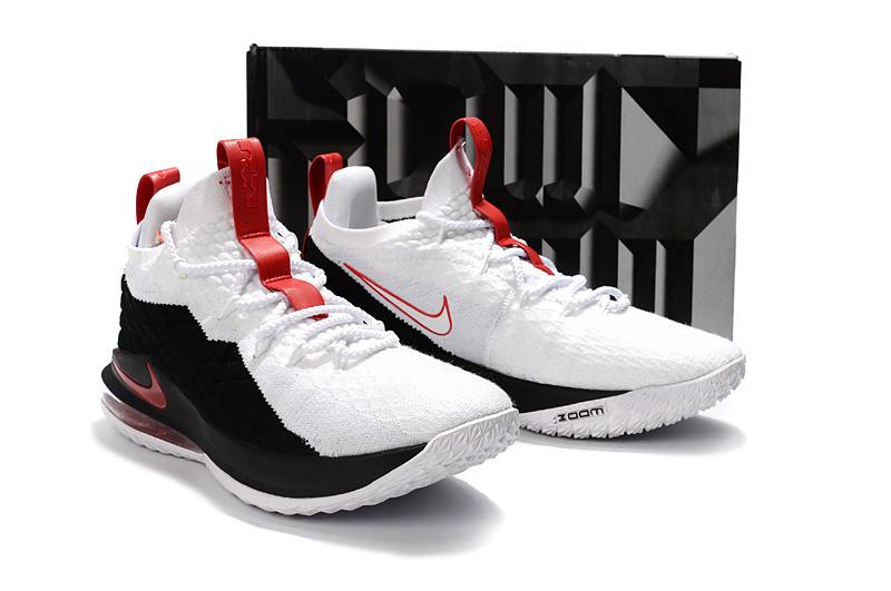 ea4524dbc4b Nike LeBron 15 Low EP Black White Red James Men s Basketball Shoes ...