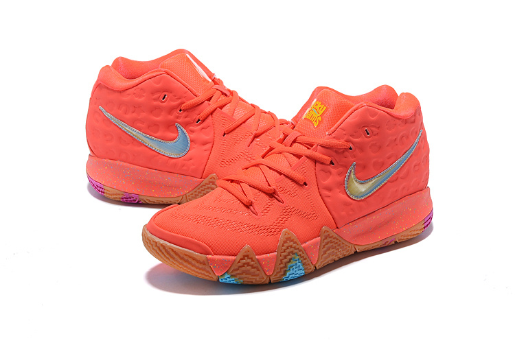new arrival 6fae1 5b1aa Nike Kyrie 4 GS Lucky Charms Bright Crimson Multi-color 943806 600 Men's  Basketball Shoes 943806-600