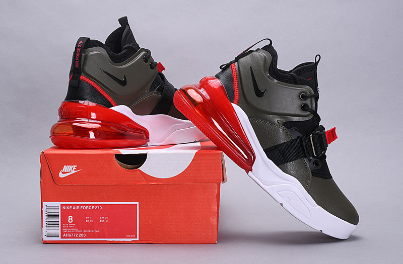 2657e726ec Nike Air Max 270 Medium Olive AH6772 200 Men's Casual Shoes Sneakers ...