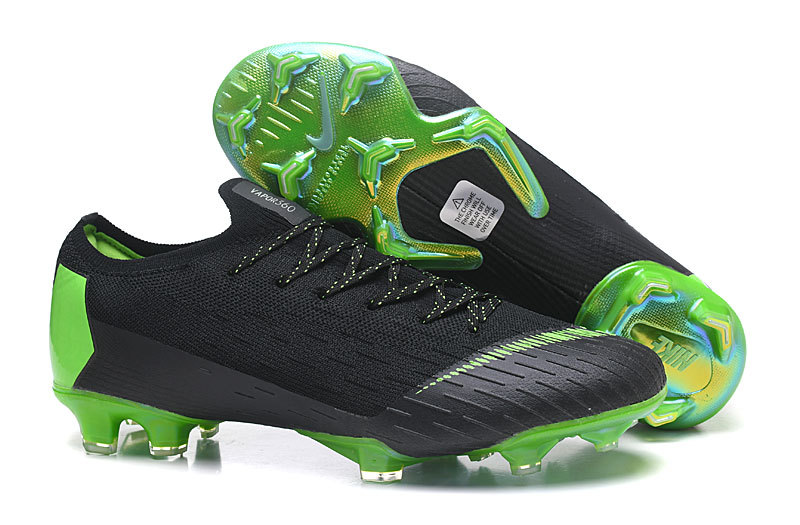 6293aa710 Nike Mercurial Superfly VI Flyknit 360 Elite FG Black Green Men s Soccer  Cleat Shoes
