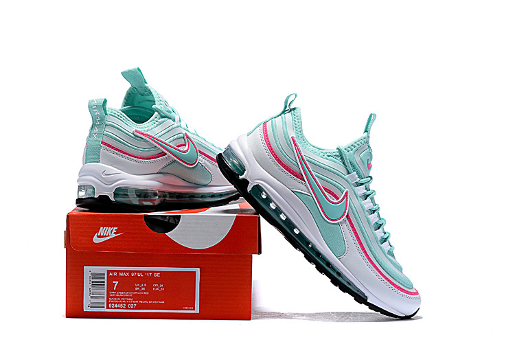 pretty nice 0d6e7 5a9ae Nike Air Max 97 Ultra SE Ocean Blue Pink White 924452 027 Women's Casual  Shoes 924452-027