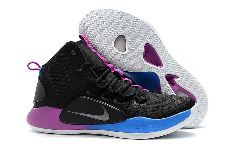 83477bc34ac4c9 Nike Hyperdunk X EP 2018 Black Purple Blue Men s Basketball Shoes ...