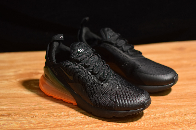 brand new f6ba2 36816 Perfect Nike Air Max 270 Orange Heel Unit Black Total Orange AH8050 008  Men's Casual Shoes AH8050-008a