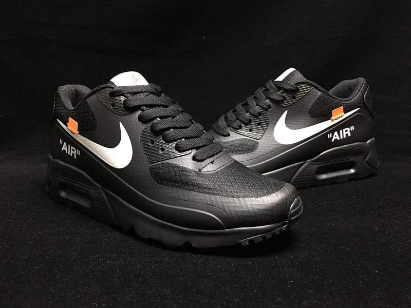 sports shoes 48b33 7b100 Off-White Nike Air Max 90 Black White Orange AA7293 104 Men's Casual Shoes  Sneakers AA7293-104A