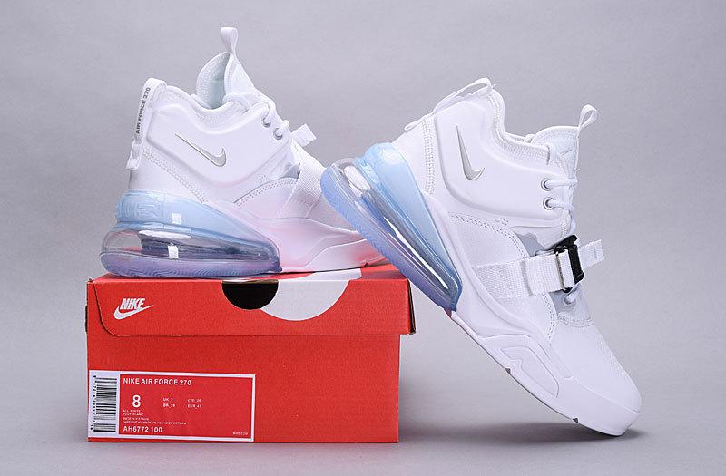 size 40 47d63 5cbab Nike Air Force 270 White Metallic Silver AH6772 100 Men's Casual Shoes  Sneakers AH6772-100