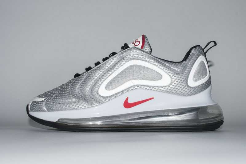 b04758995328 Nike Air Max 720 Silver Grey Red White AO2924 008 Women s Men s ...