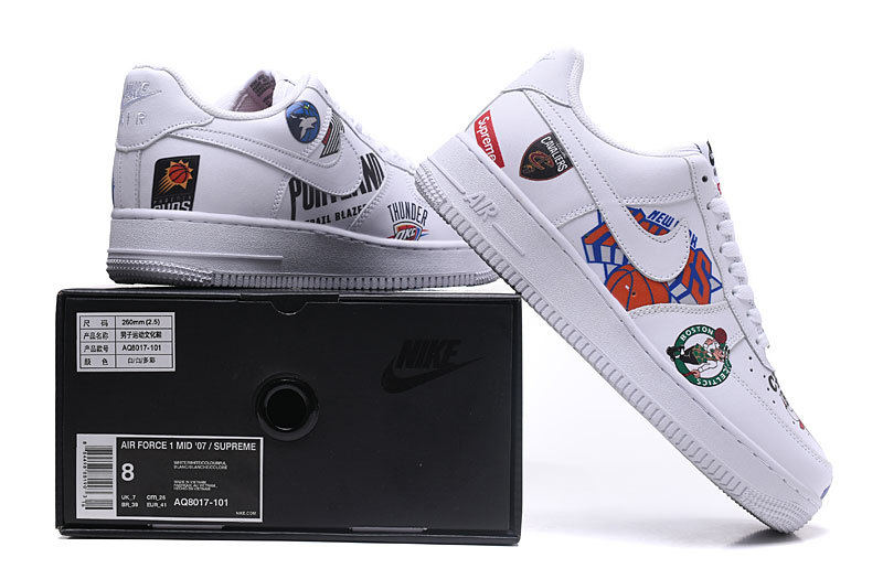 more photos 6821a 0cf8e Women's Men's Supreme x NBA x Nike Air Force 1 AF1 Low Graffiti White  AQ8017 101 Casual Shoes Sneakers AQ8017-101