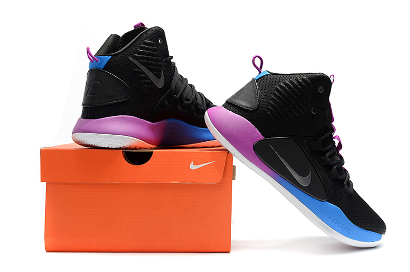 0804420b0ff Nike Hyperdunk X EP 2018 Black Purple Blue Men s Basketball Shoes ...