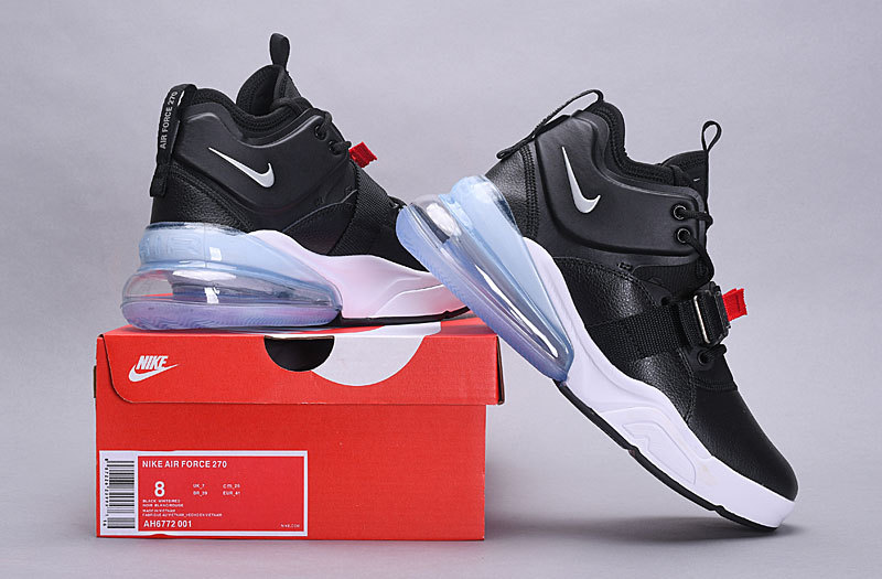 e01d82811800 Nike Air Force 270 Metallic Silver Black AH6772 001 Men s Casual ...