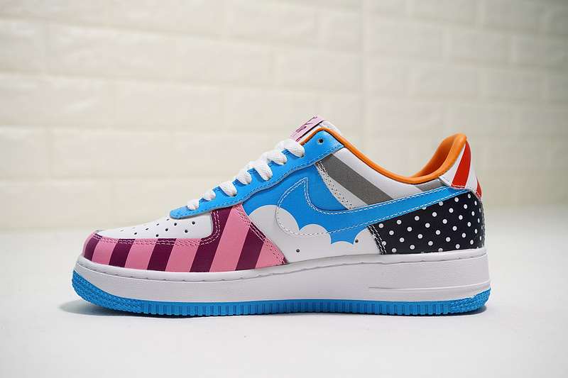 x Nike Custom Air Force 1 Low White MutiColor AT3058 100 Women's Men's Casual Shoes Sneakers AT3058 100