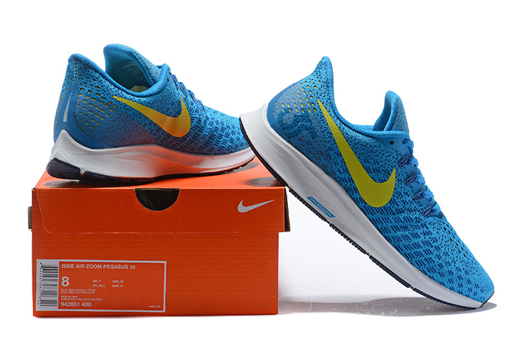 buy popular 487fe f198e Men's Casual Shoes Nike Air Zoom Pegasus 35 Blue Orbit Blue Void Pure  Platinum Bright Citron 942851 400 942851-400