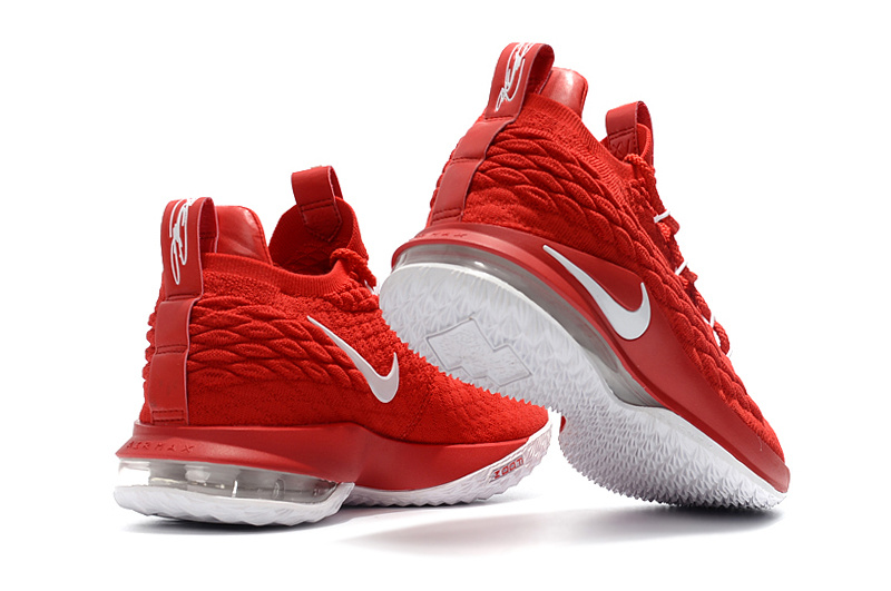 3f857ba357ce6 Nike LeBron 15 Low EP University Red Black White AO1755 600 James Men s Basketball  Shoes