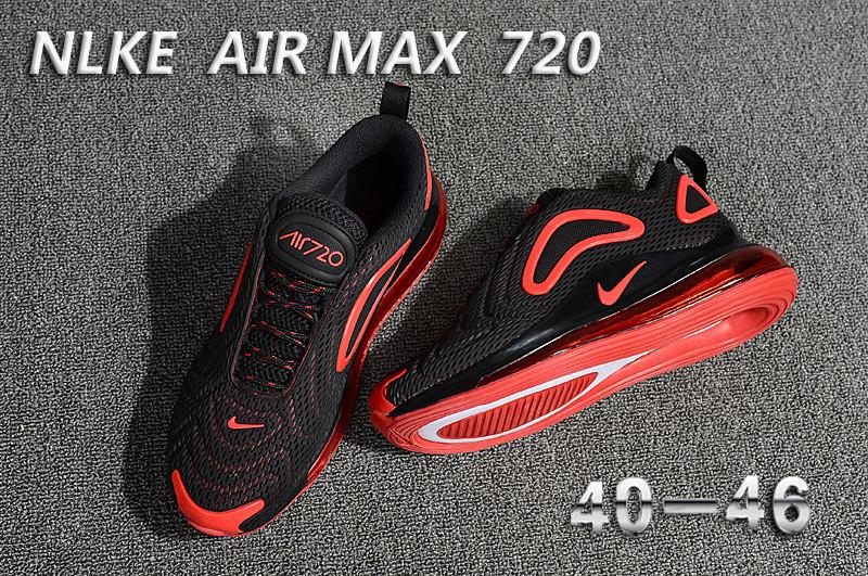 4f4baaefc3b1 Nike Air Max 720 KPU Black Red 849558 003 Men s Casual Shoes 849558 ...