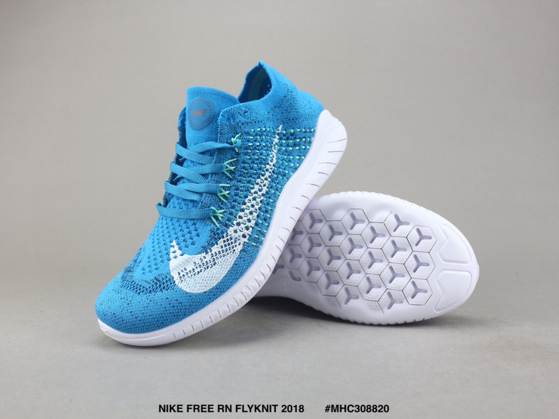 1af5d5095b9 Nike Free RN Flyknit 2018 Blue White Women s Men s Running Shoes ...