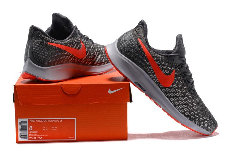 c5f90df3a Men s Casual Shoes Nike Air Zoom Pegasus 35 Thunder Grey Phantom Oil Grey  Bright Crimson 942851