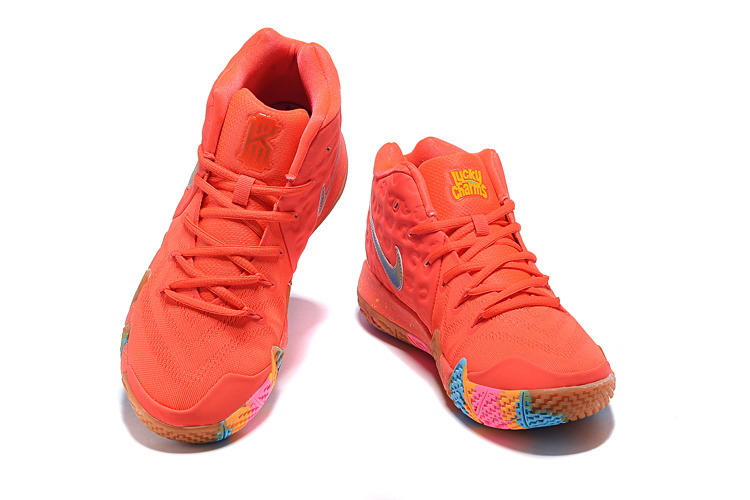 new arrival c2e91 bb860 Nike Kyrie 4 GS Lucky Charms Bright Crimson Multi-color 943806 600 Men's  Basketball Shoes 943806-600