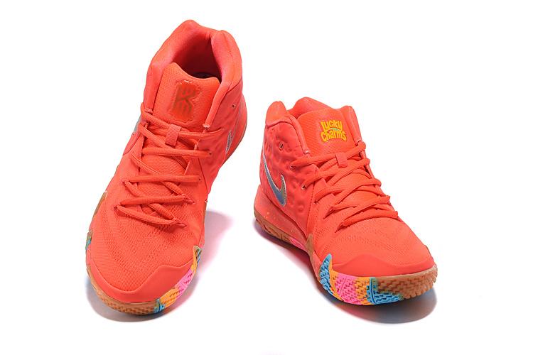 new arrival e22c5 54d6c Nike Kyrie 4 GS Lucky Charms Bright Crimson Multi-color 943806 600 Men's  Basketball Shoes 943806-600