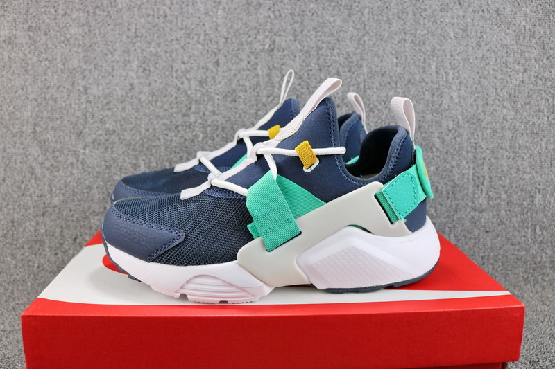 7905e97a0780 Nike Air Huarache City Low Obsidian White Vast Grey Kinetic Green AH6804  401 Women s Casual Shoes