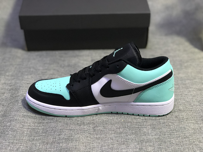 more photos 28a73 234eb Air Jordan 1 Low Emerald Toe Rise Black 553558 117 Womens Mens Athletic  Basketball Shoes 553558-117