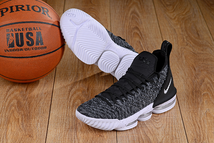 finest selection 5d206 218cb Nike LeBron 16 Black White Oreo Men's Basketball Shoes NIKE-ST003787