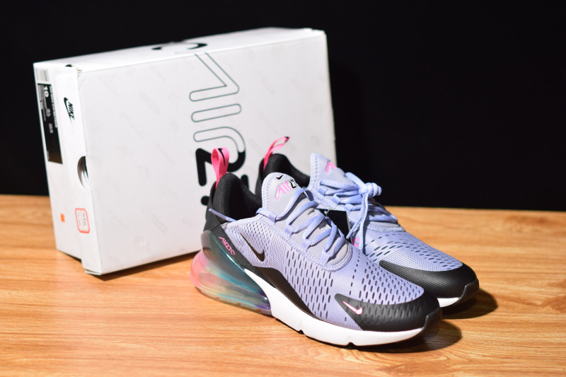 new product aee04 7202b Nike Air Max 270 Be True Purple Dawn Pink Blast Multi-Color Black AR0344  500 Women's Casual Shoes AR0344-500B