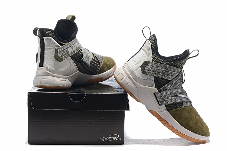 32a22028b64 Nike LeBron Soldier 12 Land and Sea Olive Canvas String Gum Light ...