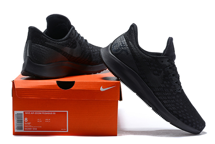 2004407019e1 Men s Casual Shoes Nike Air Zoom Pegasus 35 Black White Oil Grey 942851 002
