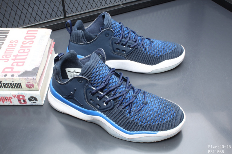 5ea6df643b1 Air Jordan DNA LX Flyknit Midnight Navy Black White Men s Basketball Shoes